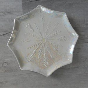 Snowflake Iridescent Platter 12 Inch, Celebrate It